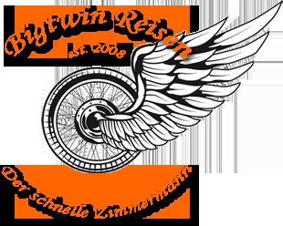 Logo des Motorradurlaub Anbieters Bigtwin Reisen